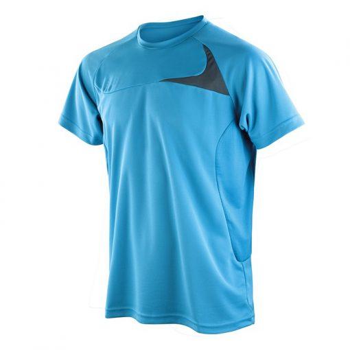 spiro dash tshirt aqua blue