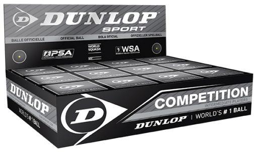 Dunlop Competition Squash Balls (1 Ball Box 12)