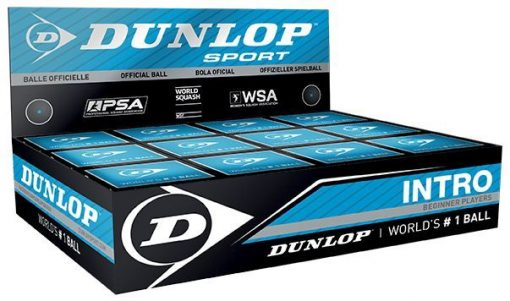 Dunlop Intro Squash Balls (1 Ball Box of 12)