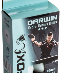 Fox TT Darwin 3 Star Table Tennis Balls (Pack of 6)