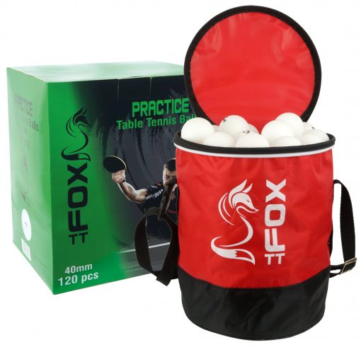 Fox TT Practice Table Tennis Balls & Bag (Pack of 120)