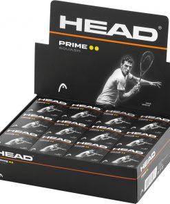 Head Prime Squash Balls - Double Yellow Dot - Box of 12