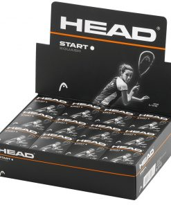 Head Start Squash Balls - Single White Dot - Box of 12