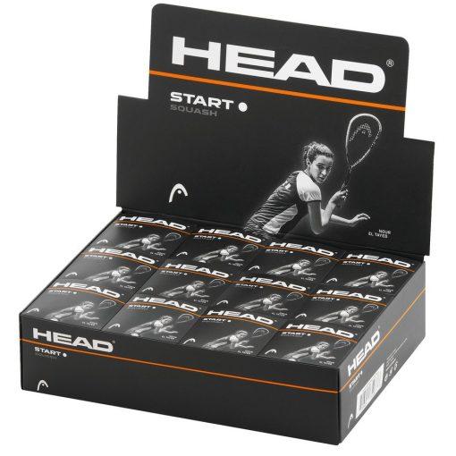 Head Start Squash Balls - Single White Dot - Box of 12