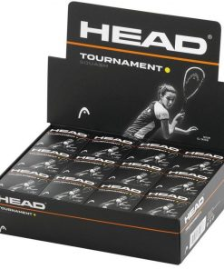 Head Tournament Squash Balls - Single Yellow Dot - Box of 12