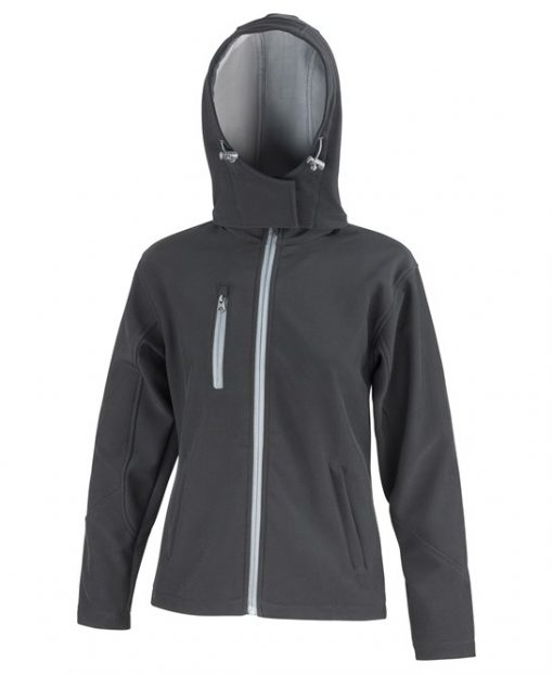 Result Core Ladies Hooded Soft Shell Jacket