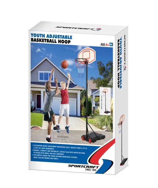 Sportcraft Junior Adjustable Basketball Net With Stand
