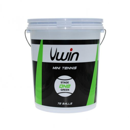 Uwin Stage 1 Green Tennis Balls - Bucket of 72 balls