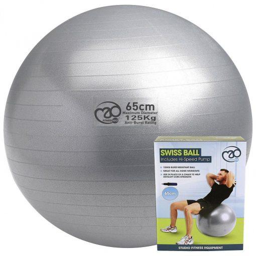 Yoga-Mad 125kg Swiss Gym Ball & Pump