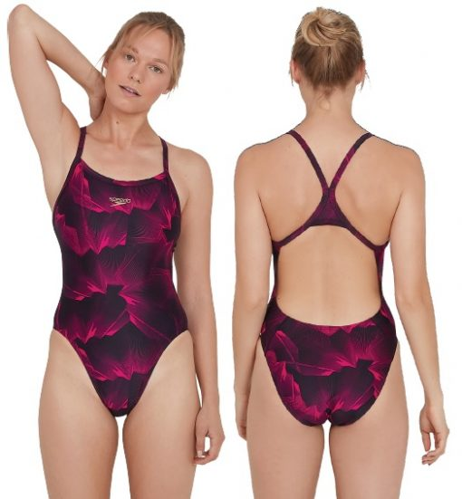 Speedo ColourVibe Allover Turnback Swimsuit