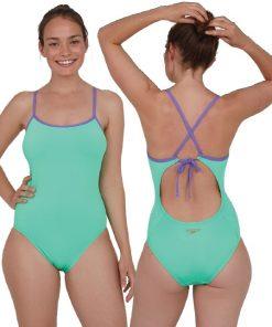 Speedo Solid Tie-Back Swimsuit