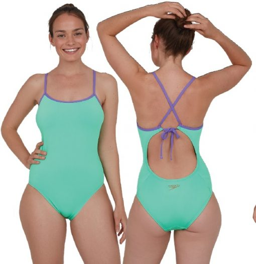 Speedo Solid Tie-Back Swimsuit