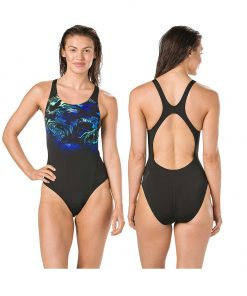 Speedo SwirlyAqua Recordbreaker Swimsuit