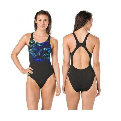 Speedo SwirlyAqua Recordbreaker Swimsuit