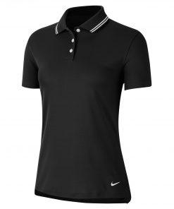 Women's Nike dry victory polo black