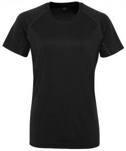 Women's TriDri® panelled tech tee black.jpg